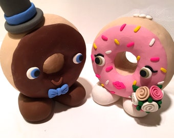 Donut Wedding Cake Topper - Choose Your Colors