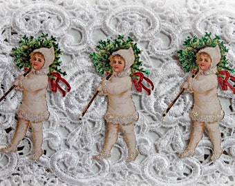 Reneabouquets Victorian Christmas Die Cut Set,  Scrapbook Embellishment, Die Cuts