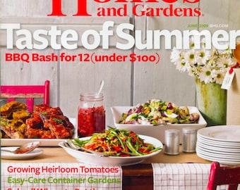 Better  Homes and Gardens Magazine - June 2009 - Taste of Summer