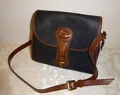 RESERVED FOR ANGIE Vintage Dooney & Bourke Purse Shoulderbag Black Pebbled All-Weather Leather Brown