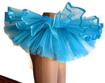 Blue tutu tulle skirt birthday dance tutu Blue Christmas tutu toddler tutu holiday tutu  2T 3T 4T girls tutu st patricks day tutu  dress up.