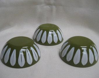 Vintage Set of 3 Mini Cathrineholm Lotus Bowls