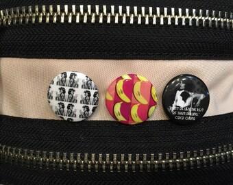 Coco Chanel pinback button pack fashion No. 5