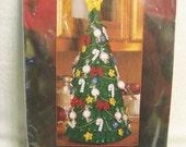 "Bucilla ""Yummy Tree"" Felt Christmas Tree Embroidery, Sewing Kit"