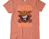 Women's Lotus Mexico T-shirt - S M L XL 2x - Ladies' Mexico Tee, Explore, Mexico, Cooking, Adventure, Vegan, Tri-Blend - 1 Color