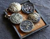 Antique Metal Button Brac...