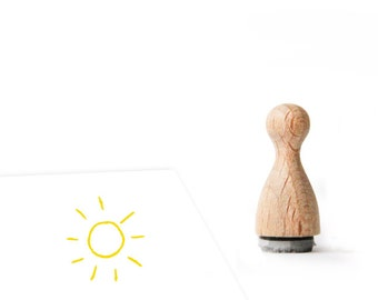 Ministempel Sonne Sommer Sonnenschein 12mm