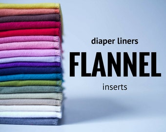 Reusable Diaper Inserts Soakers Doublers Flannel Cloth Diaper Liner  - Choose Your Colors -Size and Quantity