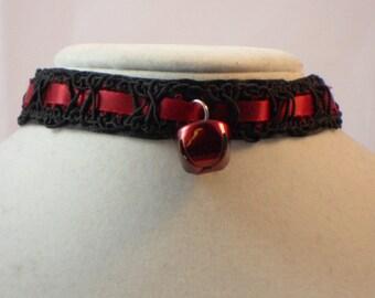 Gimp Ribbon Bell Collar/Choker