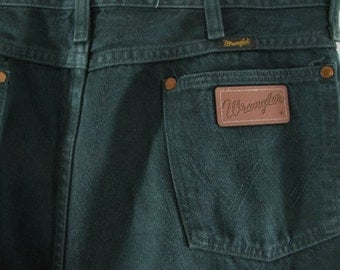 80's Green Wrangler jeans size 34 x 34