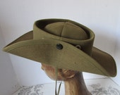 HAT AUSTRALIAN INFANTRY Style Outback Summer/Bush Hat chin strap weather resistant