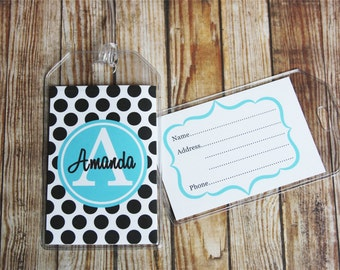 24 Colors-Luggage Tag, Personalized Luggage Tag, Custom Luggage Tag, Personalized Bag Tag, Backpack Tag, Lunch Box Tag
