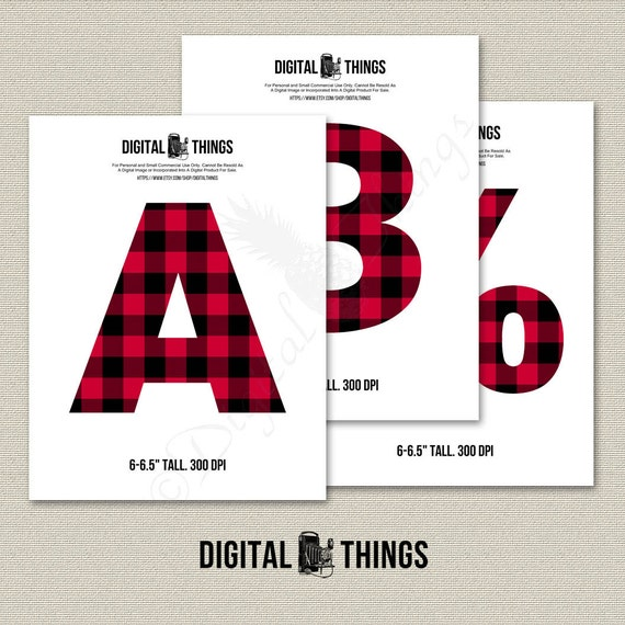 Printable Digital Alphabet Letters Numbers Clip Art