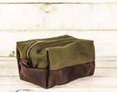 Artichoke & Leather Dopp Kit