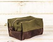 Artichoke & Leather Dopp Kit