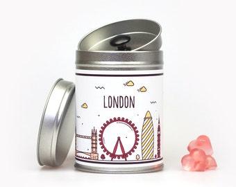 LONDON SKYLINE Geschenkdose individualisierbar