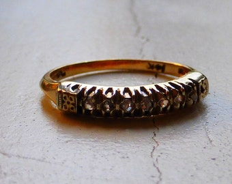 Vintage 14k Rose cut diamond wedding band