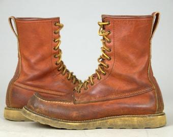 Vintage RED WING Irish Setter Moc Toe Americana Sport Hunting Boots 11B