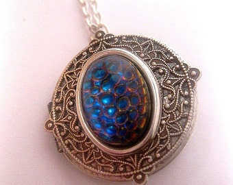 Enchanted Fantasy Necklace - Locket - Shadow Hunters - Magic Jewelry - Witch - Gypsy - Snake Skin
