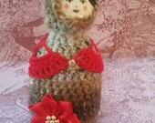 Oak Reedfrost - handmade migurumi folk art doll.