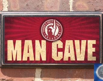 Oklahoma Sooners Only One Man Cave Wall Art Sign Plaque Gift Present Home Decor Vintage Style Antiqued Boomer Sooner Teams OK OU Antique