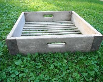 Primitive Wooden Bread Bakery Crate