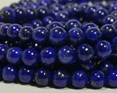 "Lapis Lazuli  6mm 8"" inch Strand Natural Gemstone Beads Bead Supplies Jewelry Making Supplies"