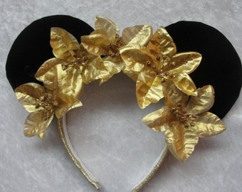 Golden Poinsettia Mickey Ears