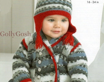PDF Knitting Pattern for a Pretty Fair Isle/Nordic Jacket, Sweater Hat & Socks for Babies and Children 3 months to 4 years old Instant Downl