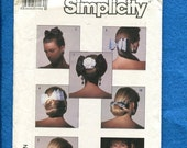 Summer SALE Vintage 1986 Simplicity 8000  Hair Accessories 10 Styles of Bows for Your Hair UNCUT