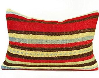 Kilim Pillow Cover, lkp8-67, Kilim Pillow, Turkish Pillow, Kilim Cushions, Moroccan Pillow,  Bohemian Pillow, Turkish Kilim, Kilim