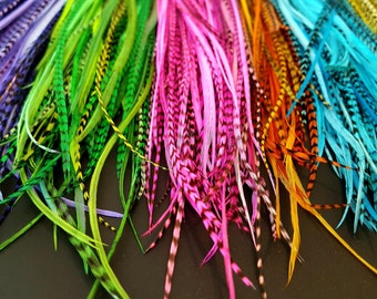 Feather Accessories for Hair Long Hair Feathers Bright Feather Hair Extensions Affordable Long Feathers for Hair Accessories