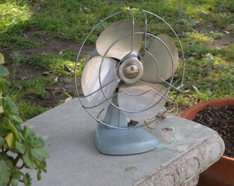 Vintage Knapp Monarch Kwik ~ Kool 11 inch by 9 inch Cage WORKING Fan//Home Decor// Fans and Heaters//Retro Fan