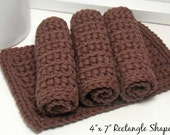 EcoFriendly Cotton Dishcloths - Chocolate Brown Dishcloths - American Grown Cotton: Set of 4