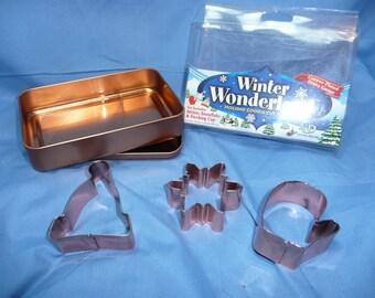 New Winter Wonderland Set of 3 Holiday Cookie Cutter Set New in Pkg