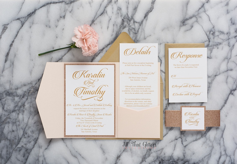 Wedding Invitations Rose: Rose Gold Wedding Invitation Rose Gold And By ATGInvitations