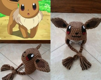 Crochet Pokemon Eevee Beanie/Hat