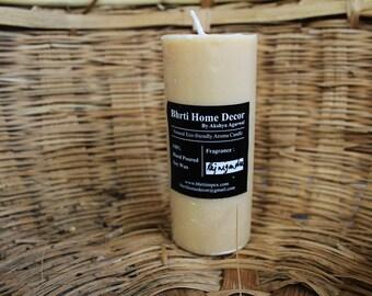 Eco friendly Soy Wax Aroma wax pillar with rajnigandha scent