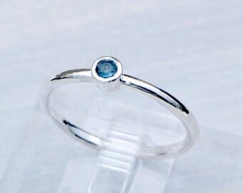 London Blue Topaz Ring, December Birthstone Ring, Blue Gemstone Ring, Stacker Ring, Promise Ring, Topaz Jewelry