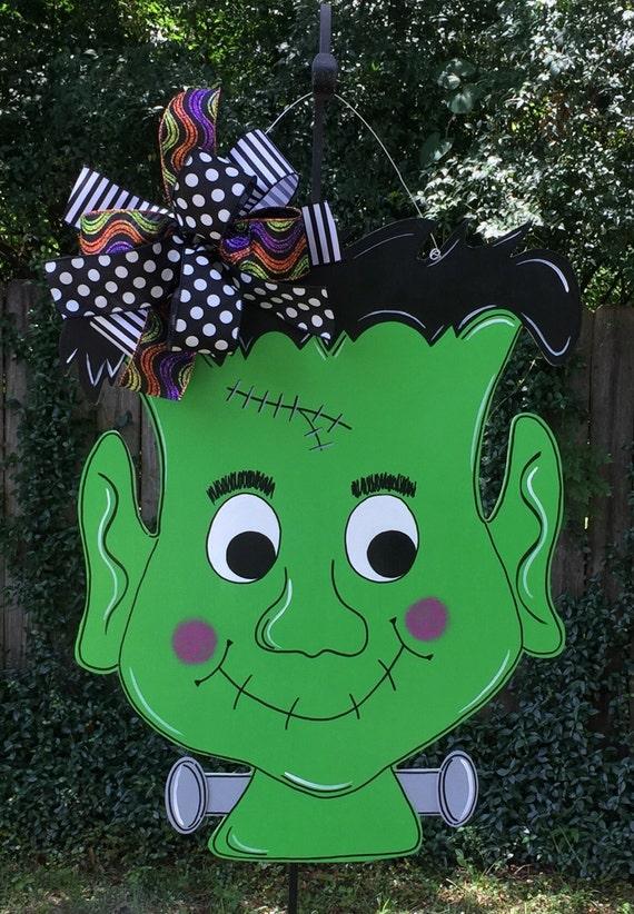 Like this item? & Frankenstein Door Hanger Halloween Door Hanger Whimsical pezcame.com