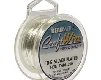 Silver Wire 24 Gauge Beadsmith Craft Wire Copper Core Soft Wire 10 Yards Non Tarnish Lead Free Nickel Free Wire Wrapping Viking Knit