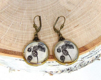 Beer Hops Earrings - Beer Earrings - Home Brew - Craft Beer