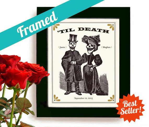 Unique Wedding Gifts Couple : Unique Wedding Gift for Couples Halloween Wedding Personalized Art ...
