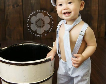 Baby Boy, Easter Outfit, Ring Bearer, Cake Smash Boy, FourTinyCousins, Boy Photo Outfit, Newsboy, First Birthday, Special Occasion, Newborn