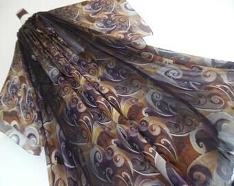 TARUN TAHILIANI . Princess Of Beduins . Exquisite Silk Print Maxi Dress Caftan Kaftan One Size