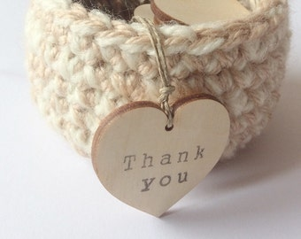 Mini hearts tags / set of 100 / thank you tags / small hang tags / wedding tags / party favors