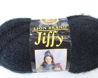 1 skein Lion brand yarn Jiffy  black