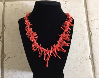 Vintage Genuine Branch Coral Necklace