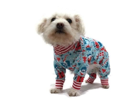 Christmas Dog Pajamas Dog Clothes Dog Clothing Dog