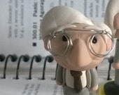 B.F. Skinner and Lab Rat Art Doll Polymer Clay Miniature Figurine Psychology Counseling Therapy Research Science Graduate Graduation Gift